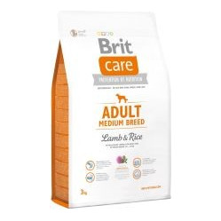 BRIT CARE ADULT MEDIUM BREED LAMB & RICE 3 kg