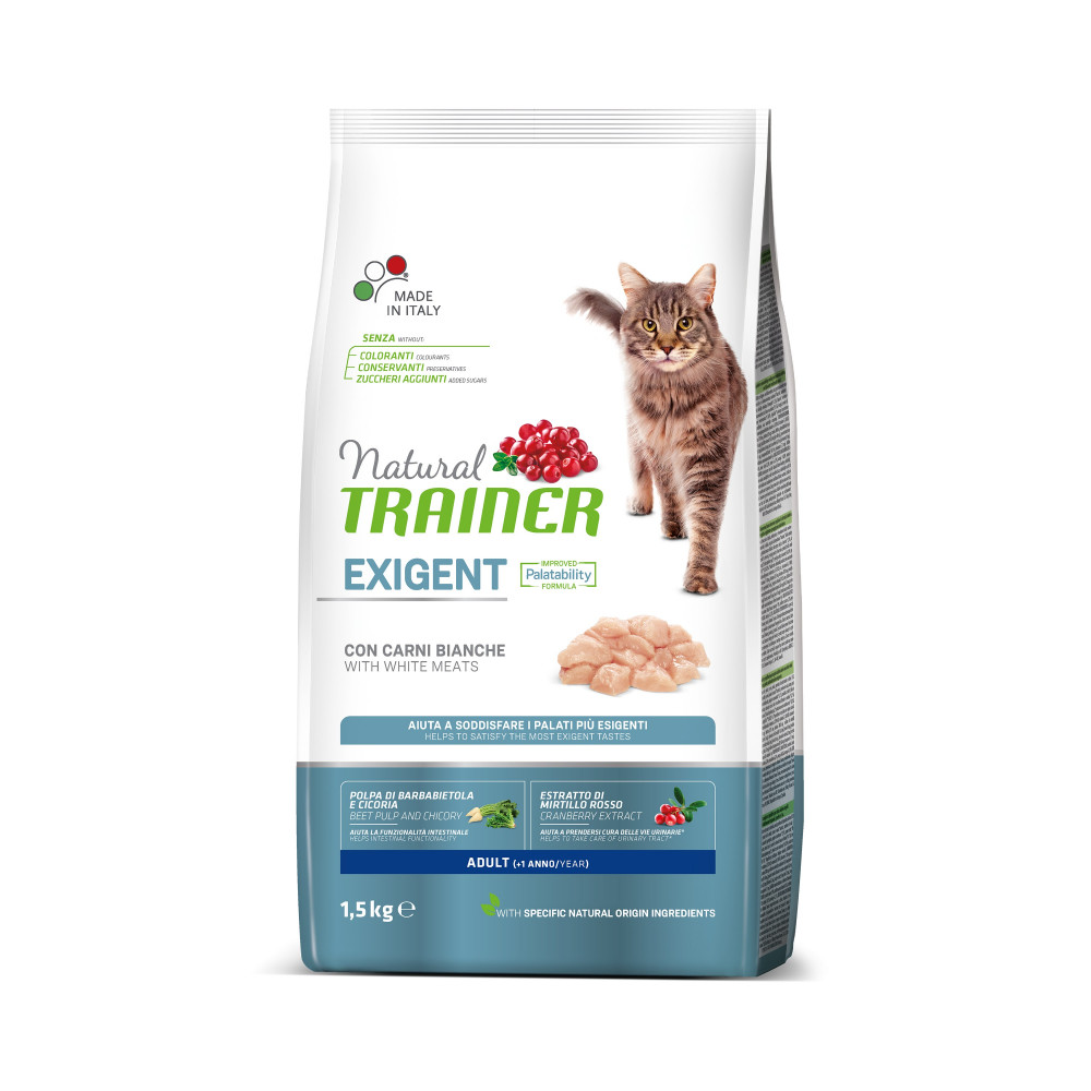 TRAINER NATURAL CAT EXIGENT WHITE MEAT 1,5 KG