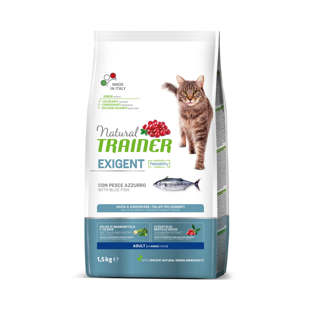TRAINER NATURAL CAT EXIGENT BLUE FISH 1,5 KG