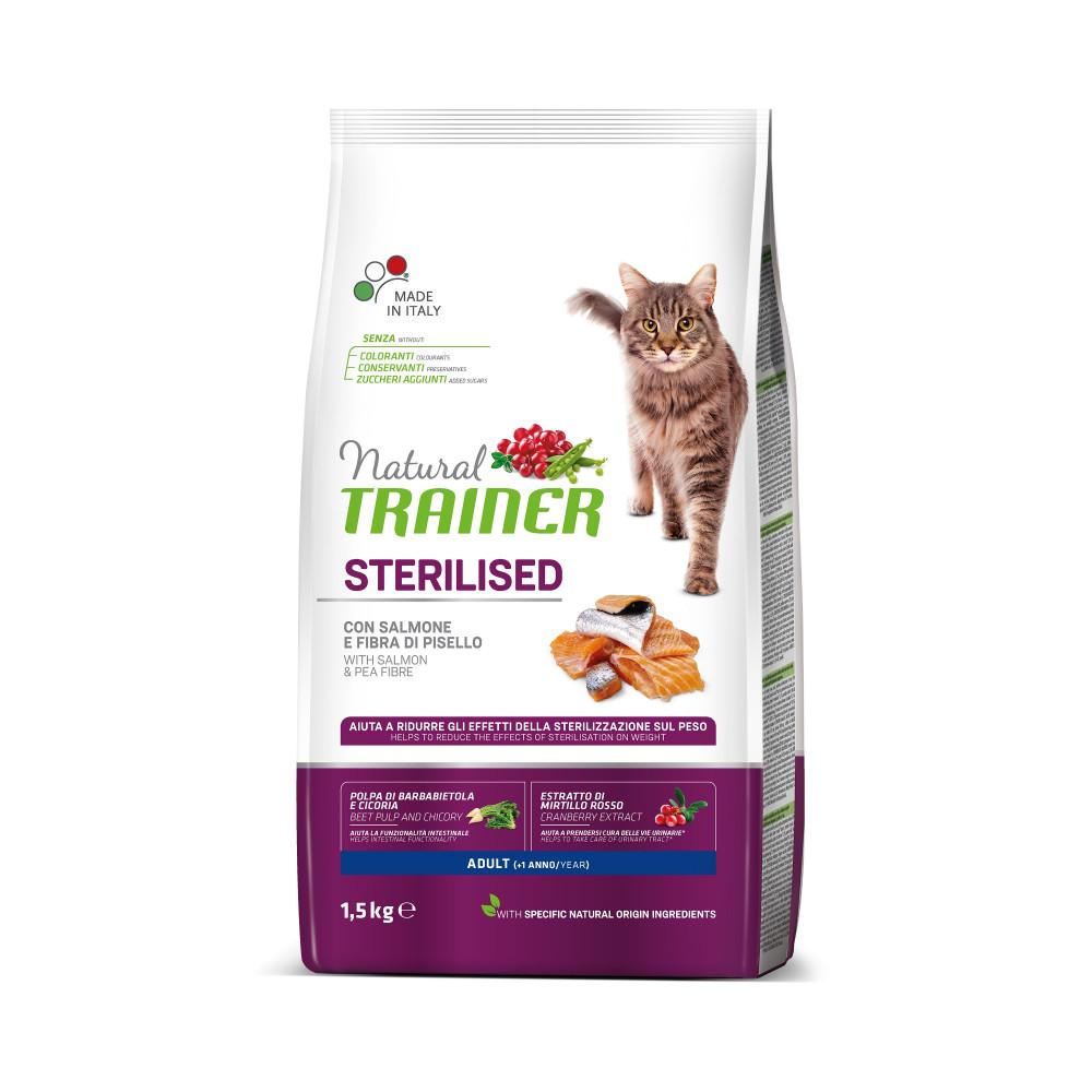 TRAINER NATURAL CAT STERILISED SALMON 10 KG