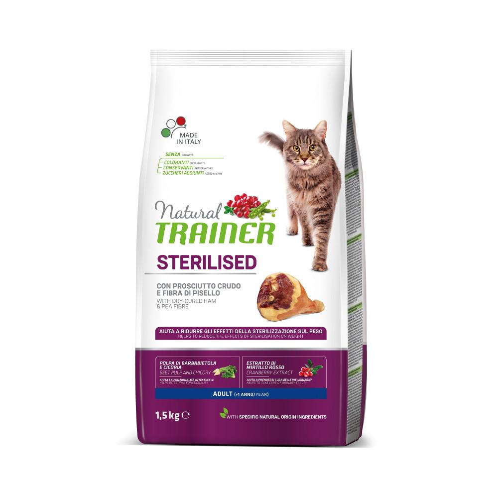 TRAINER NATURAL CAT STERILISED HAM 10 KG