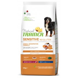 TRAINER SENSITIVE DOG NO GLUTEN ADULT M/M SALMON 12 kg
