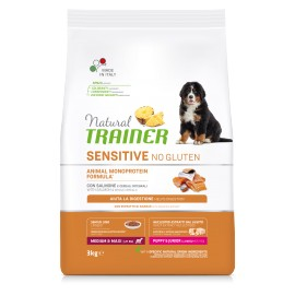 TRAINER SENSITIVE NO GLUTEN PUPPY&JUNIOR M/M SALMON 3 kg