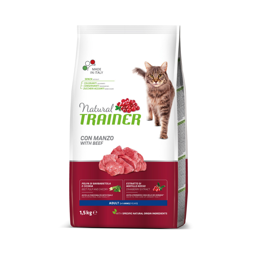 TRAINER NATURAL CAT WOŁOWINA  (BEEF) 1,5 KG