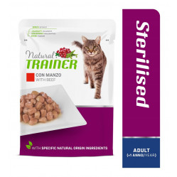 TRAINER CAT ADULT STERILISED BEEF 85 g
