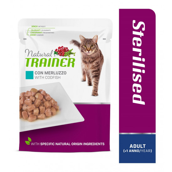 TRAINER CAT ADULT STERILISED CODFISH 85 g