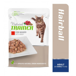 TRAINER CAT ADULT HAIRBALL WITH BEEF 85 g