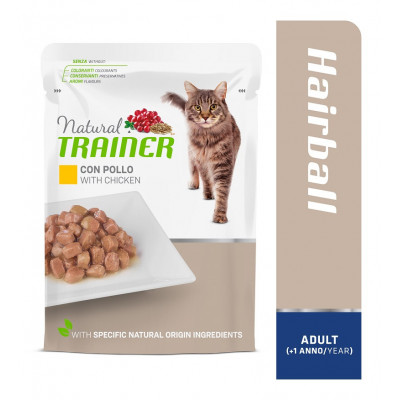 TRAINER CAT ADULT HAIRBALL WITH CHICKEN 85 g