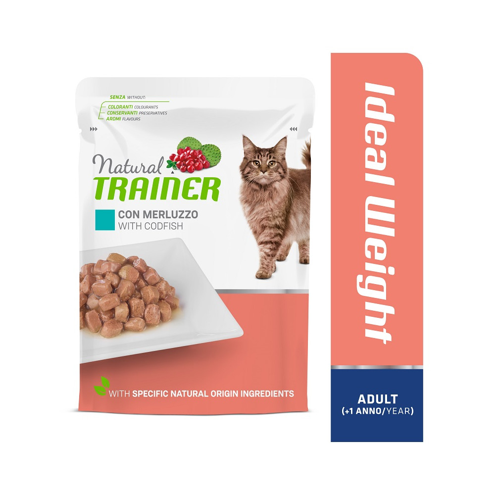 TRAINER CAT IDEAL WEIGHT ADULT WITH CODFISH 85 g