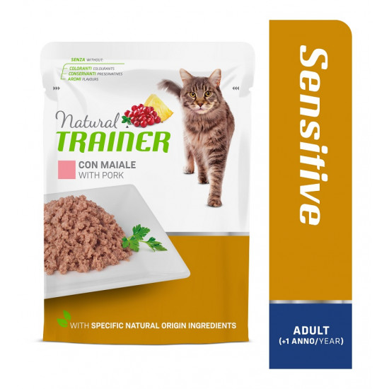 TRAINER CAT SENSITIVE ADULT WITH PORK 85 g