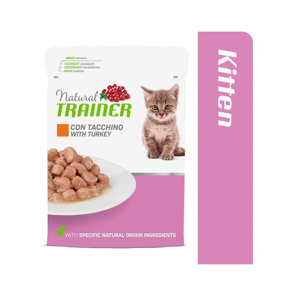 TRAINER KITTEN&YOUNG WITH TURKEY 85 g