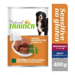 TRAINER DOG SENSITIVE NO GLUTEN MEDIUM&MAXI LAMB&WHOLE CEREALS 400 g
