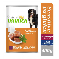 TRAINER DOG SENSITIVE NO GLUTEN MEDIUM&MAXI DUCK&WHOLE CEREALS 400 g