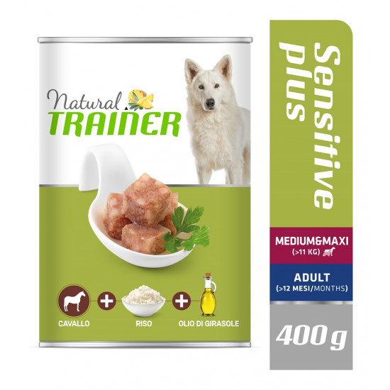 TRAINER DOG SENSITIVE PLUS MEDIUM&MAXI HORSE 400 g