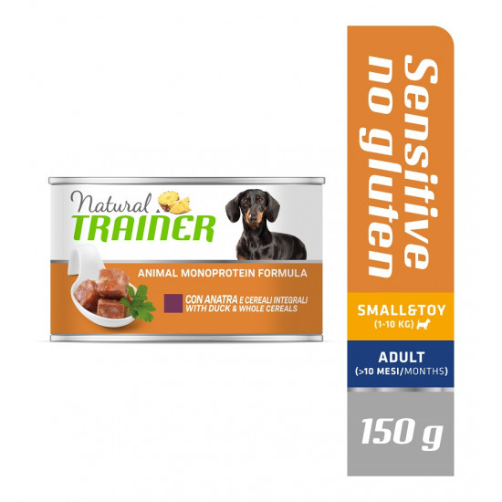 TRAINER DOG SENSITIVE NO GLUTEN SMALL&TOY ADULT with DUCK&WHOLE CEREALS 150 g