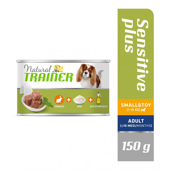 TRAINER DOG SENSITIVE PLUS SMALL&TOY RABBIT-RICE-OIL 150 g