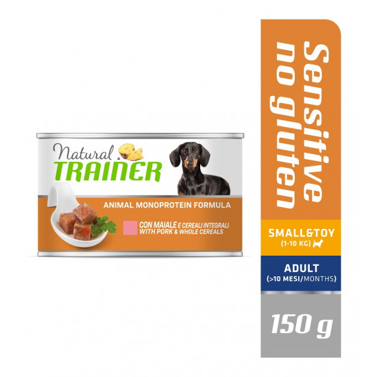 TRAINER DOG SENSITIVE NO GLUTEN SMALL&TOY PORK&WHOLE CEREALS 150 g