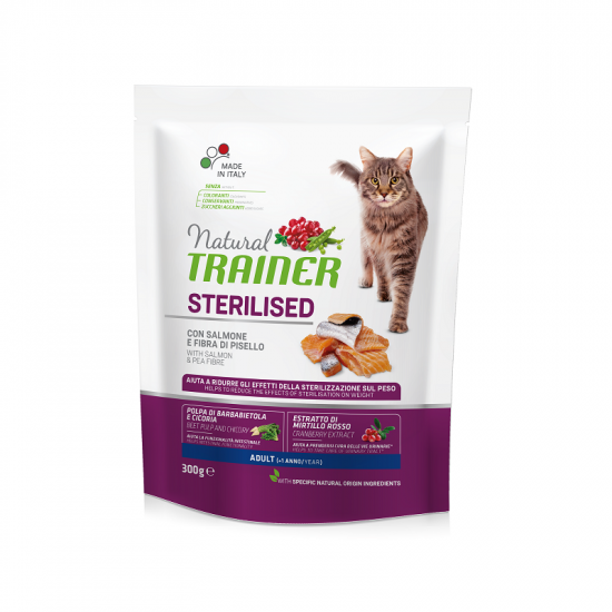 TRAINER NATURAL CAT STERILISED SALMON 300 g