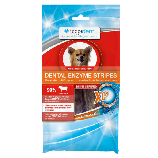 BOGADENT DENTAL ENZYME STRIPES PIES MINI 100G