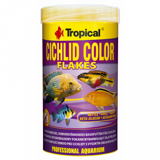 TROPICAL CICHLID COLOR FLAKES 250ML/50G