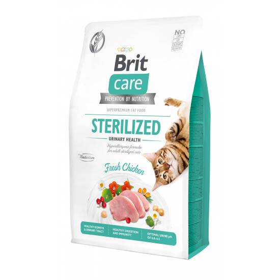 BRIT CARE CAT GRAIN-FREE STERILIZED URINARY HEALTH 2 KG