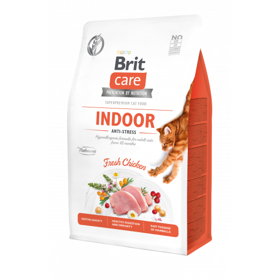 BRIT CARE CAT GRAIN-FREE INDOOR ANTI-STRESS 2 KG