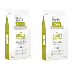 BRIT CARE ADULT SMALL BREED LAMB & RICE 7,5 KG X 2 SZT