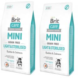 BRIT CARE MINI GF LIGHT&STERILISED 2 x 7KG