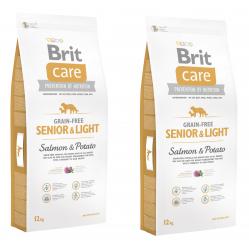 BRIT CARE GF SENIOR&LIGHT SALMON&POTATO 2 x 12KG