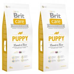 BRIT CARE PUPPY LAMB & RICE 2 x 12 KG